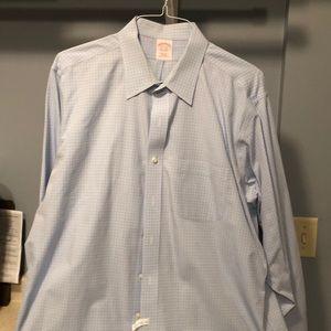 Brooks Brothers blue plaid non-iron shirt